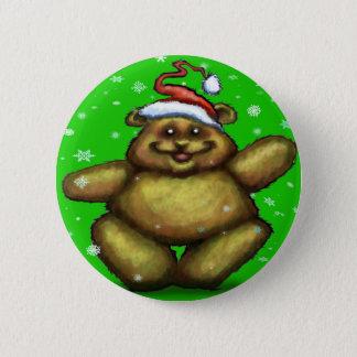 Beary Christmas Pinback Button