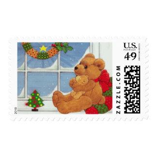 Beary Christmas Postage Stamp