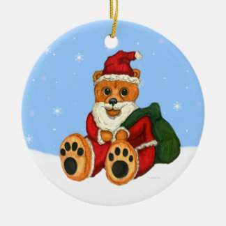 Beary Christmas Santa Bear Ornament