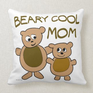 cool mom throw pillow