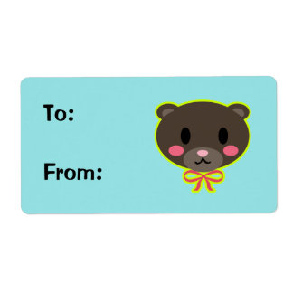 Beary Cute Gift Label
