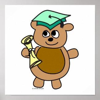 Beary Cute Graduation Posters
