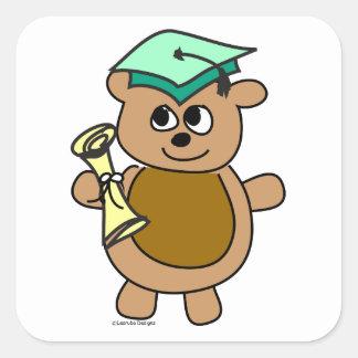 Beary Cute Graduation Square Sticker