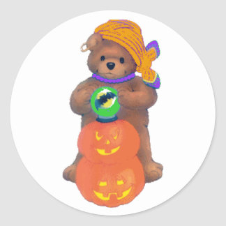 Beary Cute Gypsy Classic Round Sticker