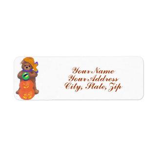 Beary Cute Gypsy Return Address Label