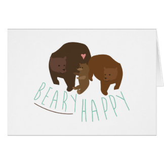 Beary feliz tarjeta de felicitación