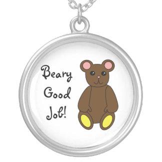 Beary Good Job Necklace