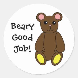 Beary Good Job Sticker