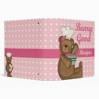Beary Good Recipes recipe note book Binder