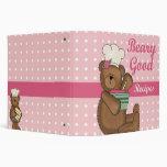 Beary Good Recipes recipe note book Binders
