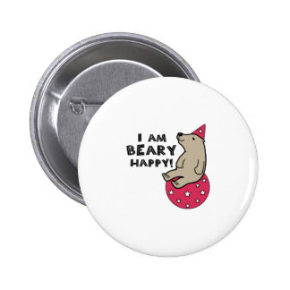 Beary Happy 2 Inch Round Button