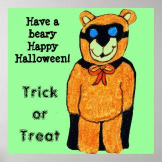 BEARY HAPPY HALLOWEEN BEAR poster
