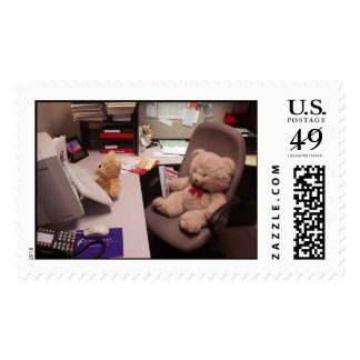 Beary Hard At Work Stamp