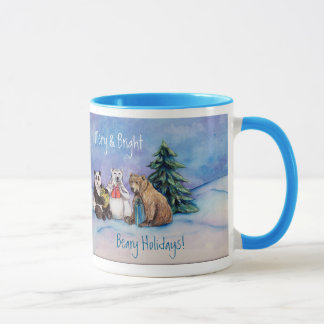 Beary Holidays Merry and Bright Custom Coffee Cups