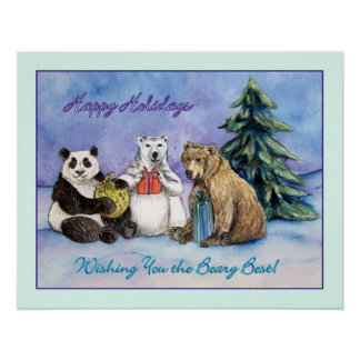 Beary Holidays Poster