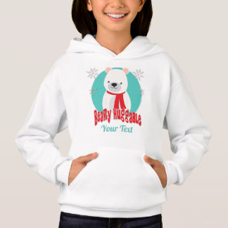 Beary Huggable Winter Christmas Bear Personalized Hoodie