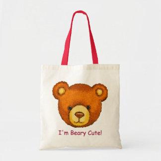 ¡Beary lindo! El ~ embroma el oso de peluche Bag~C Bolsa Tela Barata