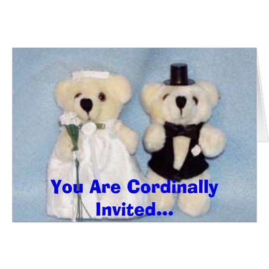 Beary Loveable Wedding Card