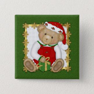 Beary Merry Christmas - Boy Teddy Button
