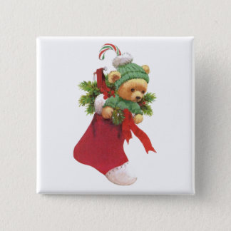 Beary Merry Christmas Button