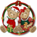 Beary Merry Christmas Circle photosculpture