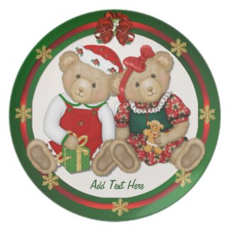 Beary Merry Christmas - Customize Plate