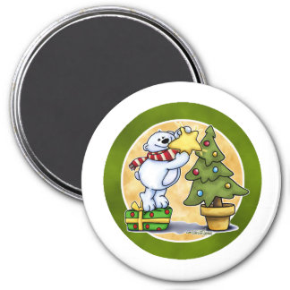 Beary Merry Christmas - First Christmas 3 Inch Round Magnet