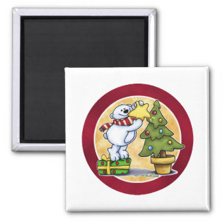 Beary Merry Christmas - First Christmas 2 Inch Square Magnet