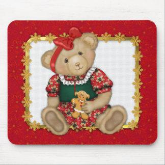Beary Merry Christmas -Girl Teddy Mouse Mats