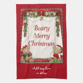 Beary Merry Christmas Hand Towel