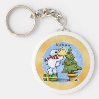 Beary Merry Christmas Keychain