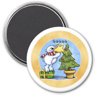 Beary Merry Christmas 3 Inch Round Magnet