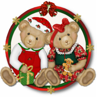 Beary Merry Christmas Ornament Photo Sculptures