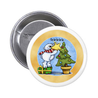Beary Merry Christmas Pinback Button