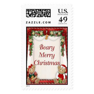 Beary Merry Christmas Postage Stamp