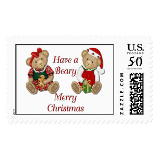 Beary Merry Christmas Postage