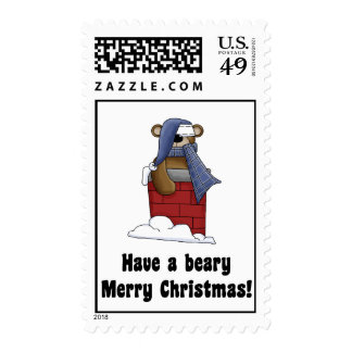 Beary Merry Christmas Postage Stamps