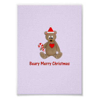 Beary Merry Christmas Posters