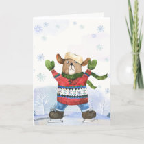 Beary Merry Colorado Christmas Card