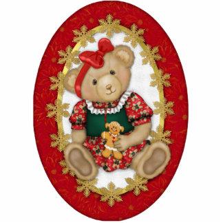 Beary Merry Teddy Bear Ornament Acrylic Cut Outs