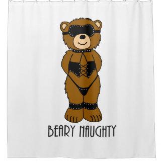 Beary Naughty Bondage Bear Shower Curtain