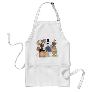 Beary New Year Adult Apron