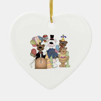 Beary New Year Ceramic Ornament