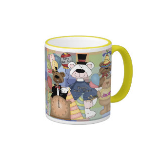 Beary New Year Coffee Mugs