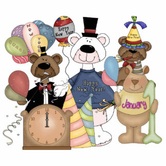 Beary New Year Cutout