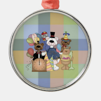 Beary New Year Metal Ornament