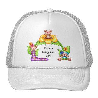 Beary Nice Day Pixel Art Trucker Hat