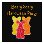 Beary Scary  Gummy Bear Halloween Party Invitation