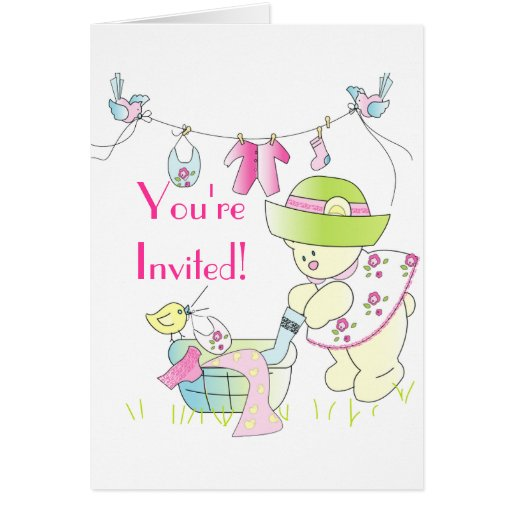 beary special baby shower invitation greeting card zazzle