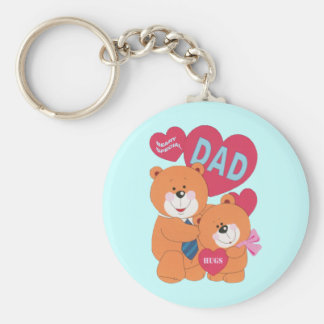 Beary Special Dad Keychain